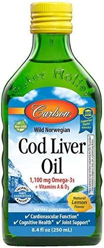 Carlson Wild Norwegian Cod Liver Oil