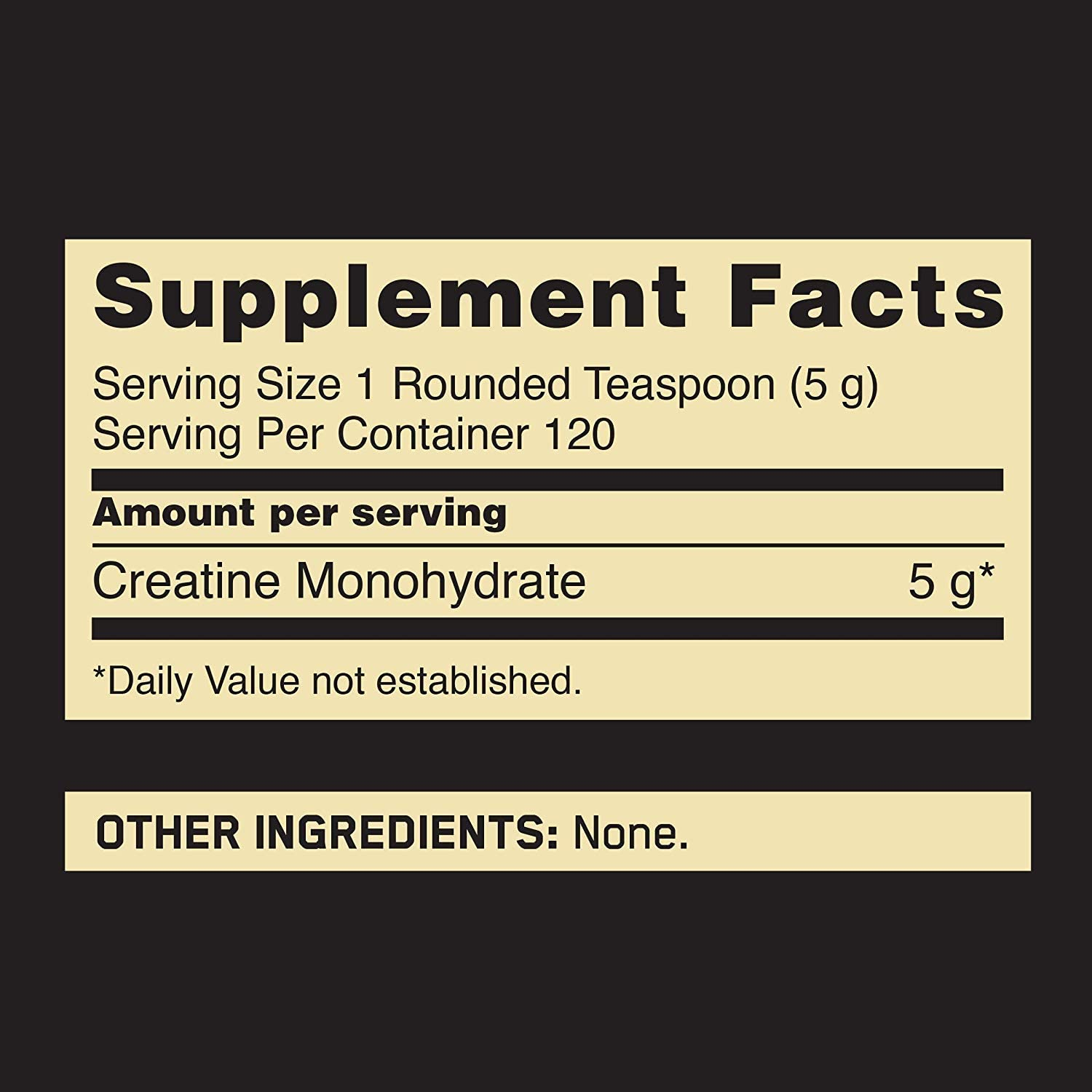 Optimum Nutrition Micronized Creatine Nutrition Facts